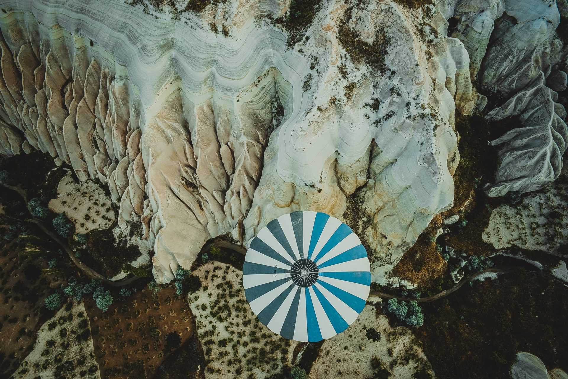 Umbrella Next to Cliff