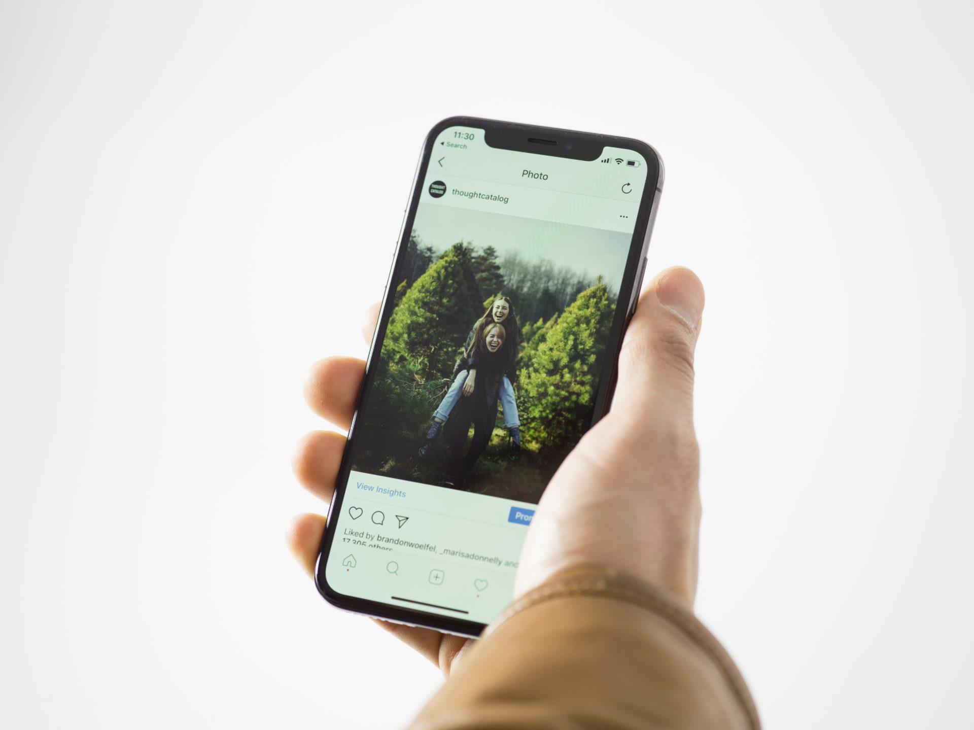 Instagram App Open on Cell Phone
