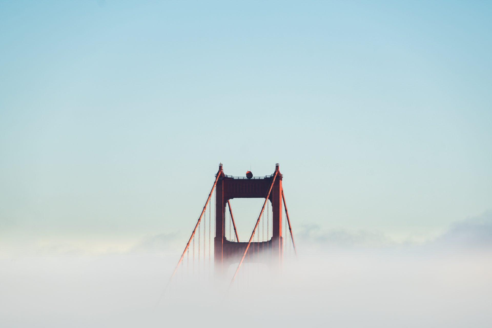 Golden Gate Bridge Enshrouded in Fog