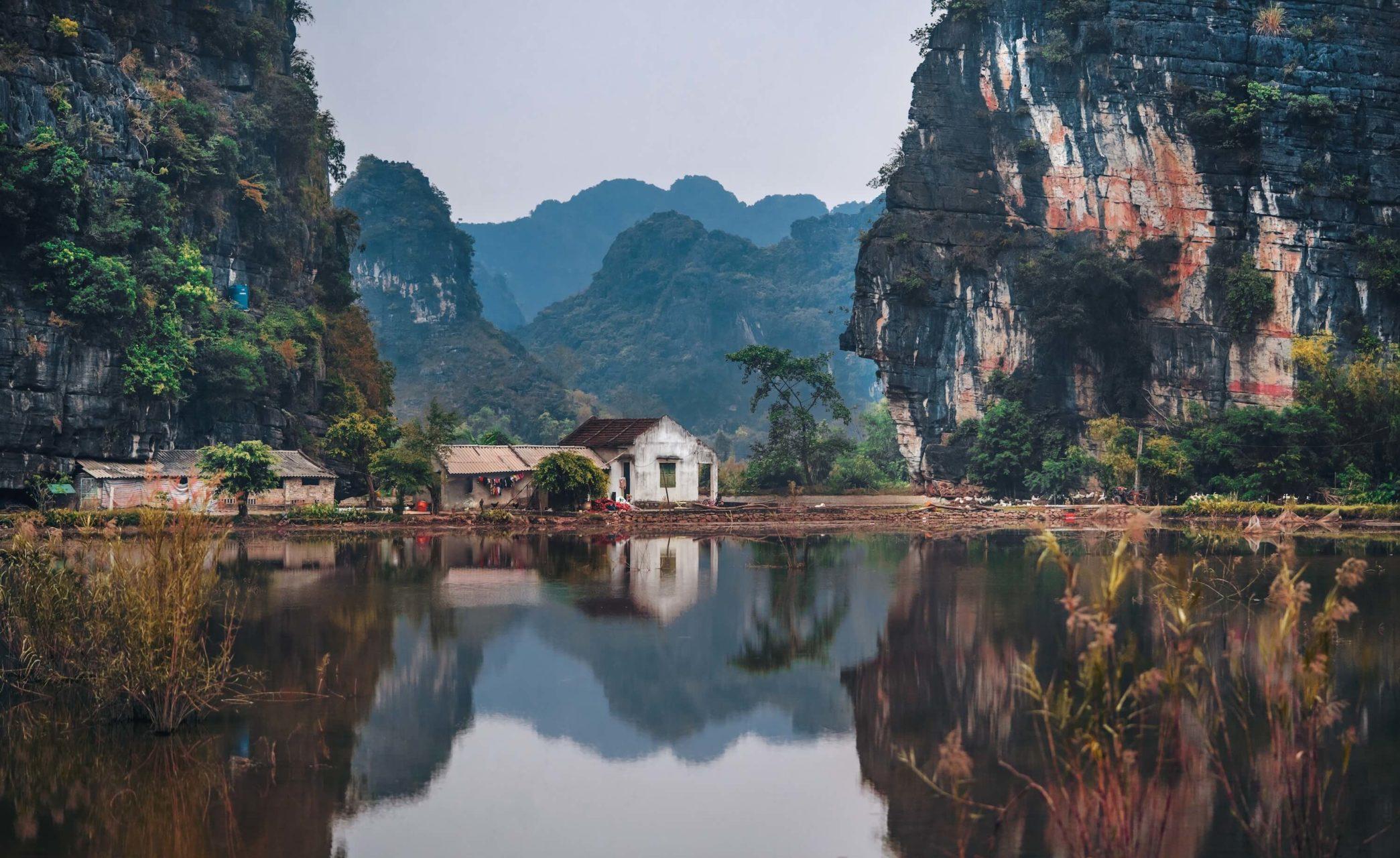 View of Lake in Vietnam