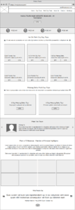 Example of a wireframe mockup created by Andrea