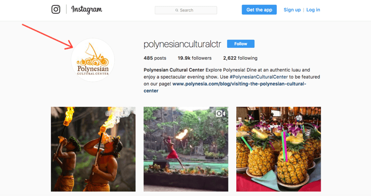 Polynesian Cultural Center Instagram profile