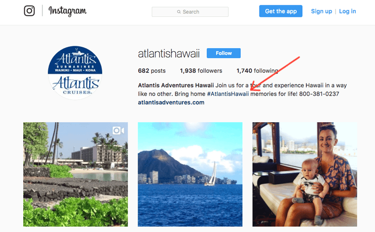 Atlantis Hawaii Instagram profile