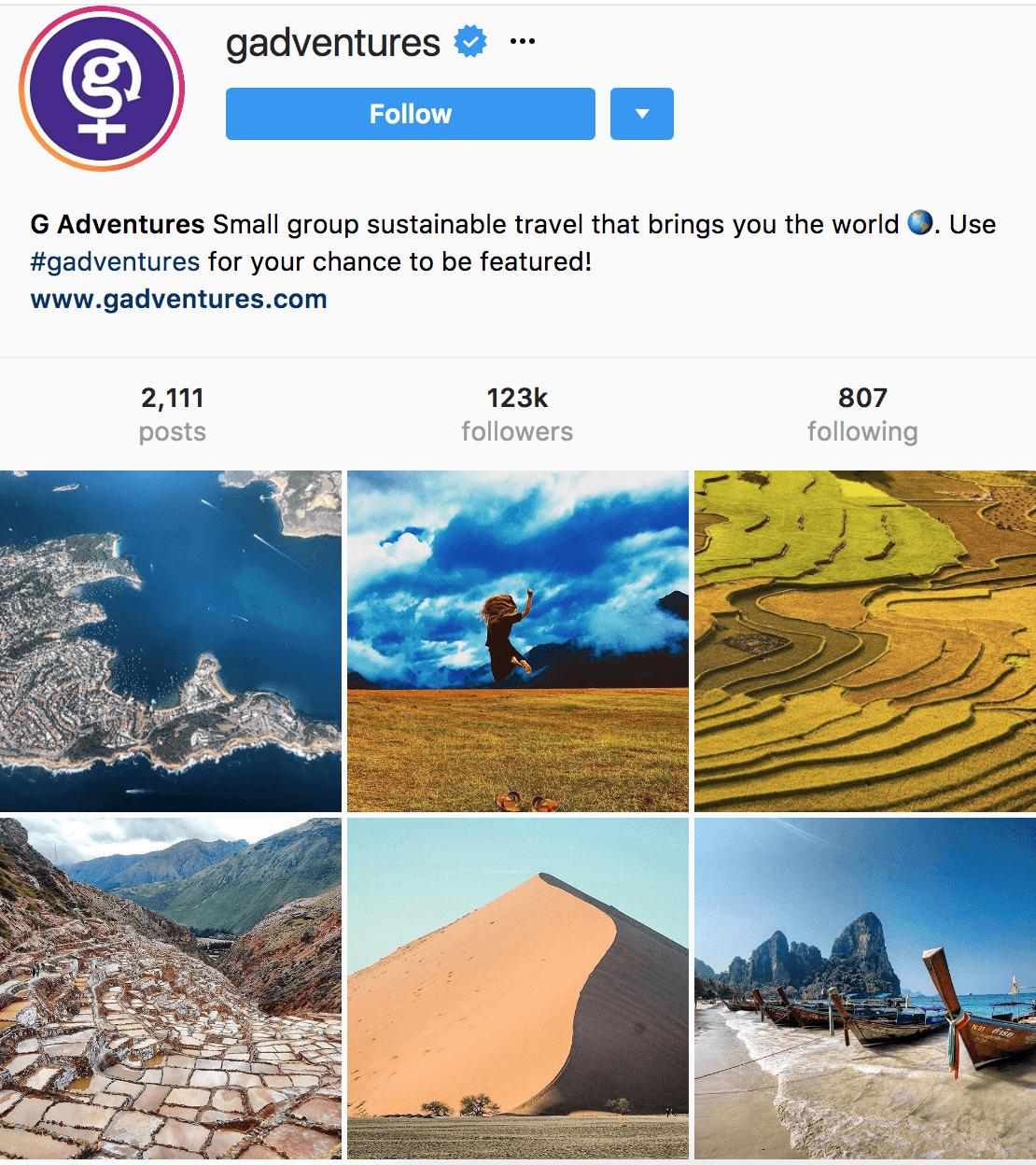 gadventures Instagram profile