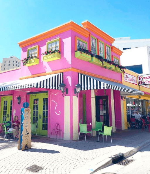 Colorful ice cream shop