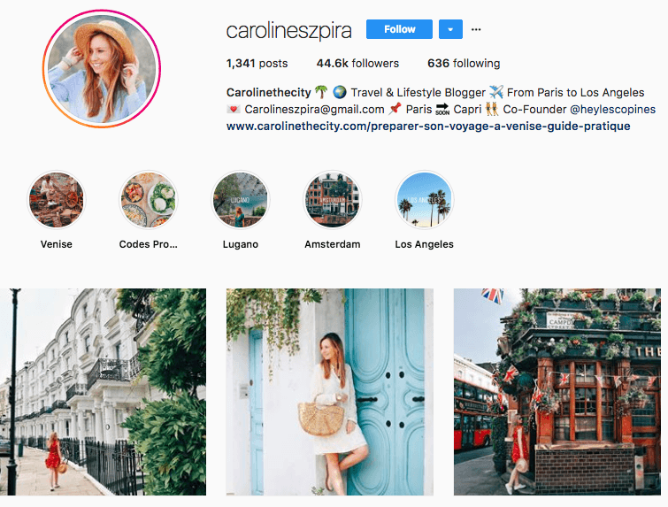 carolineszpira Instagram profile