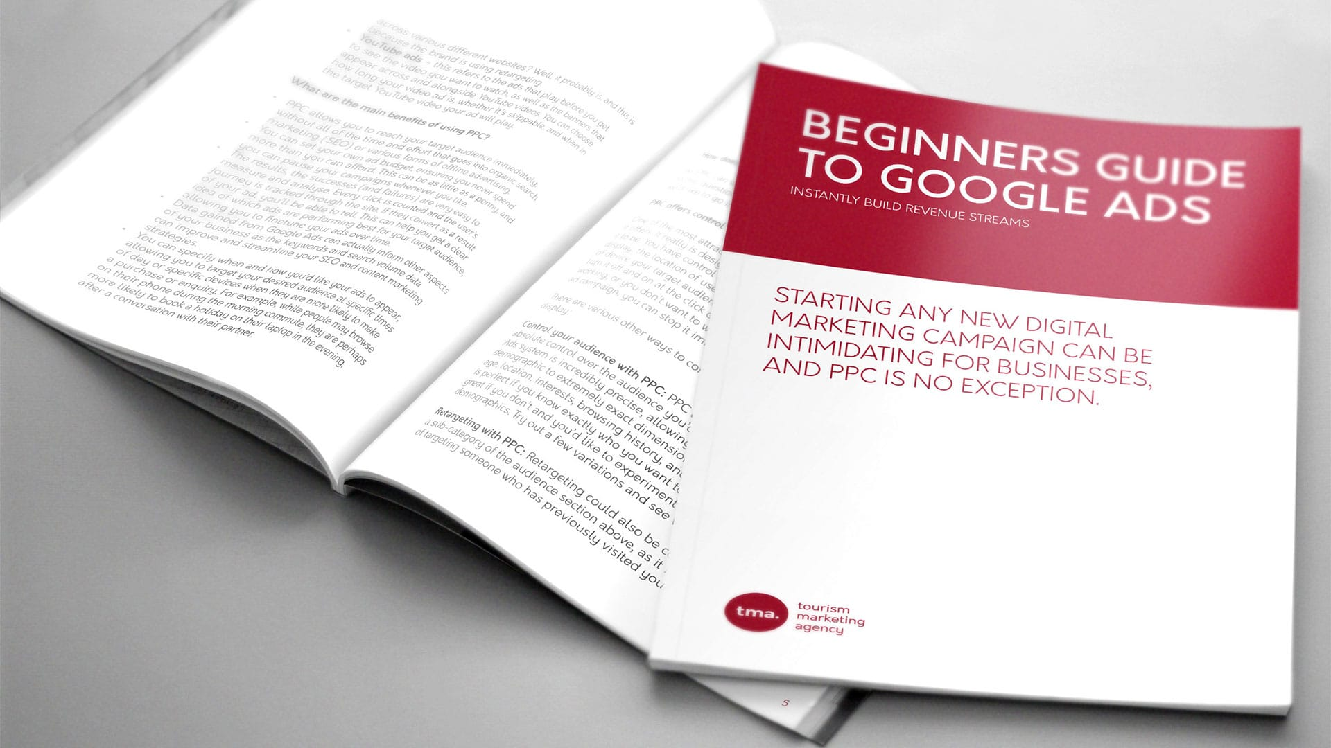"""Booklet Titled the """"Beginners Guide to Google Ads"""" from the Tourism Marketing Agency"""