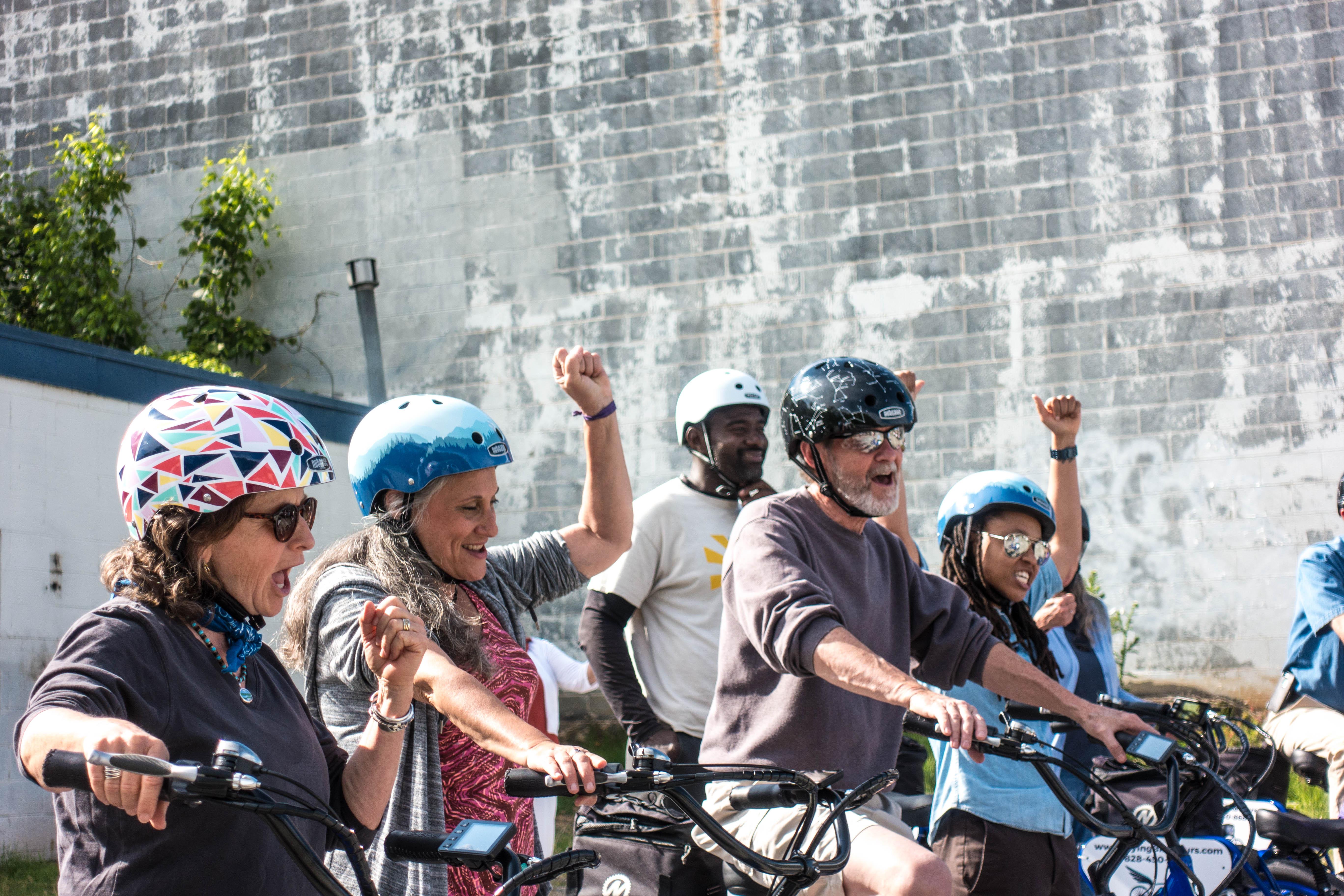 People on a Bike Tour