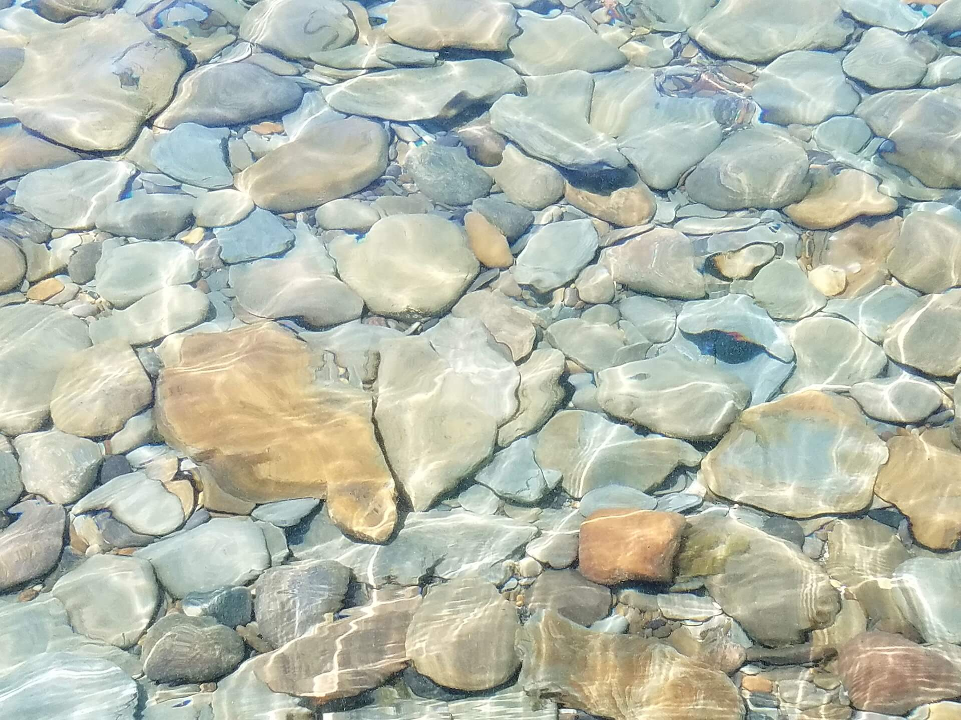 Rocks at the Bottom of a Lake