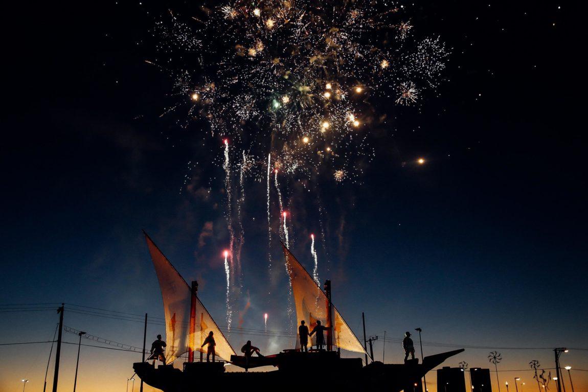 Fireworks Over Ship