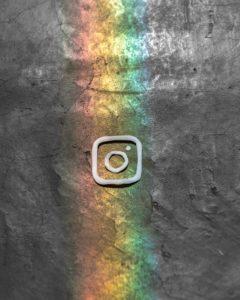 Instagram Logo in Rainbow
