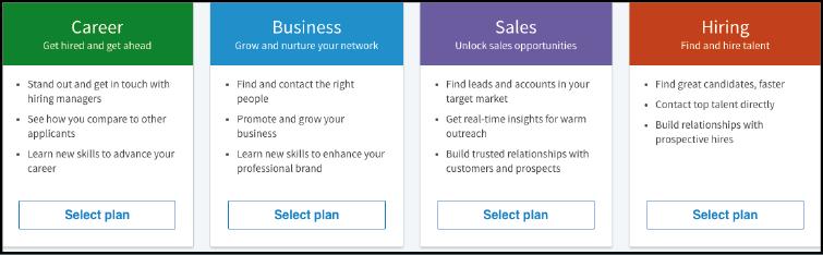 Four Types of LinkedIn Plans