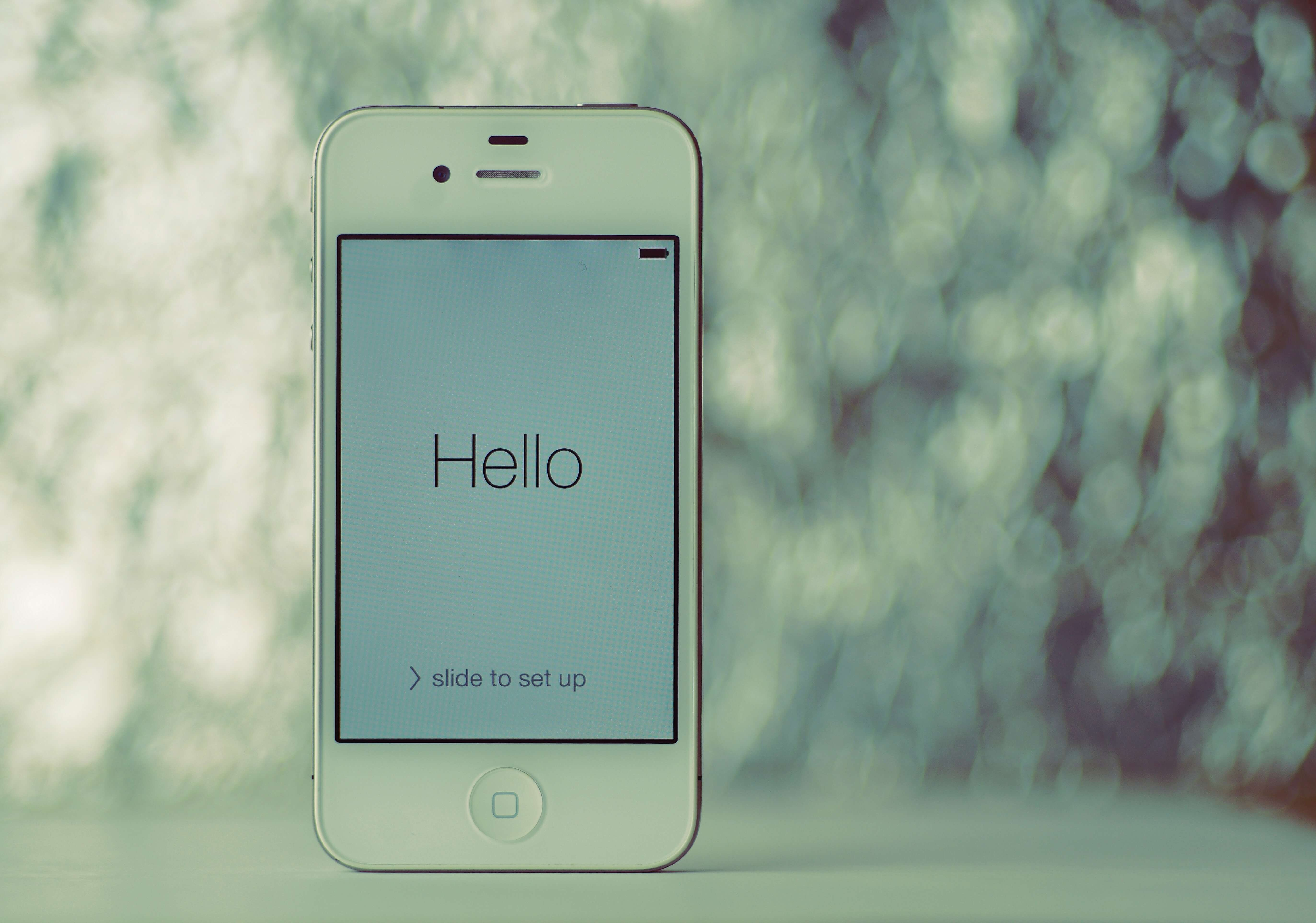 Hello Screen on iPhone