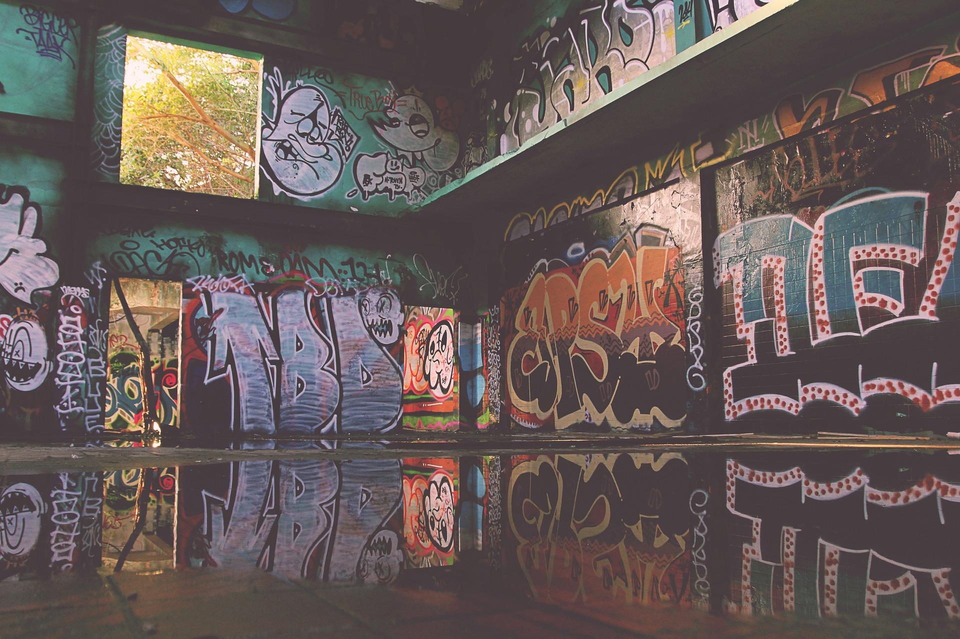 Corner with graffiti