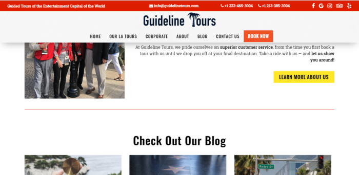 guideline tours screenshot