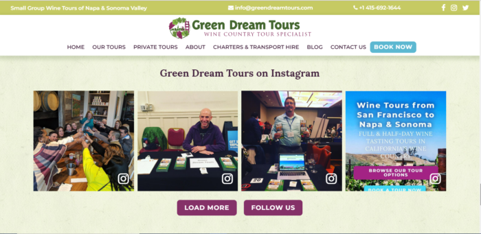 green dream tours screenshot