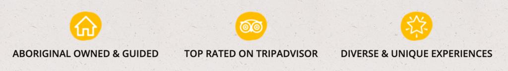 "Three USPs for Iwara Travel including ""Top Rated on TripAdvisor"""