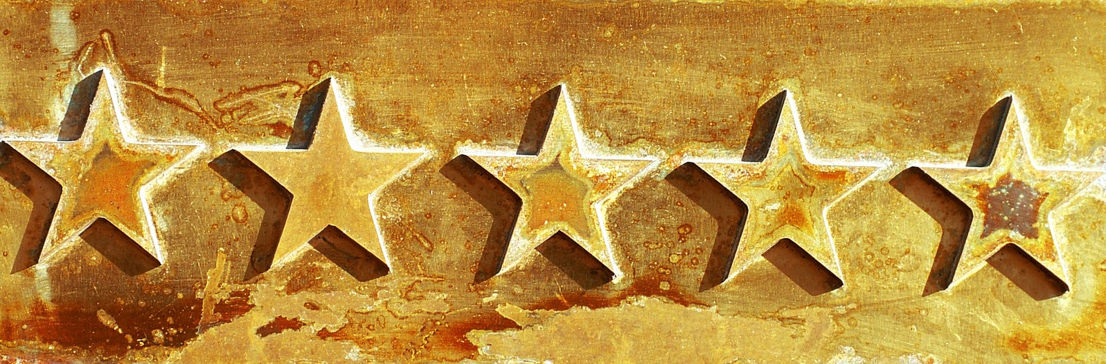 five etched stars