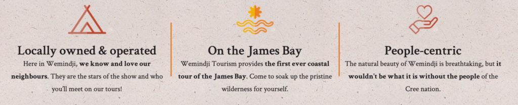 "Three USPs for Wemindji Tourism including ""On the James Bay"""
