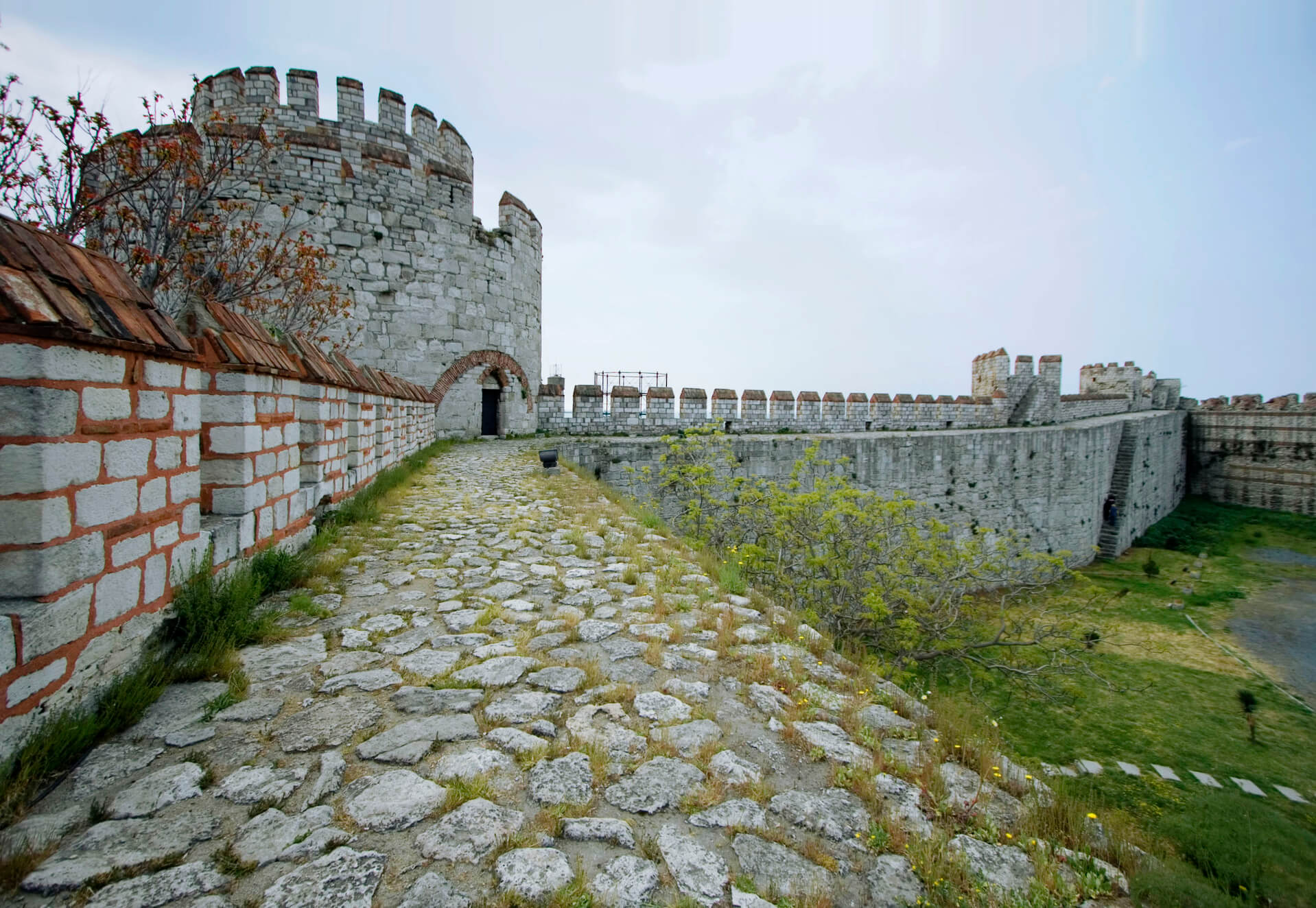Wall of a castle or fortress