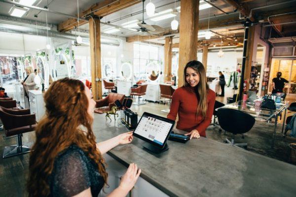 salesperson in meeting