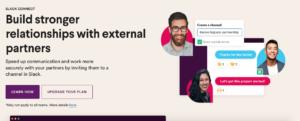 A screenshot of Slack's main homepage