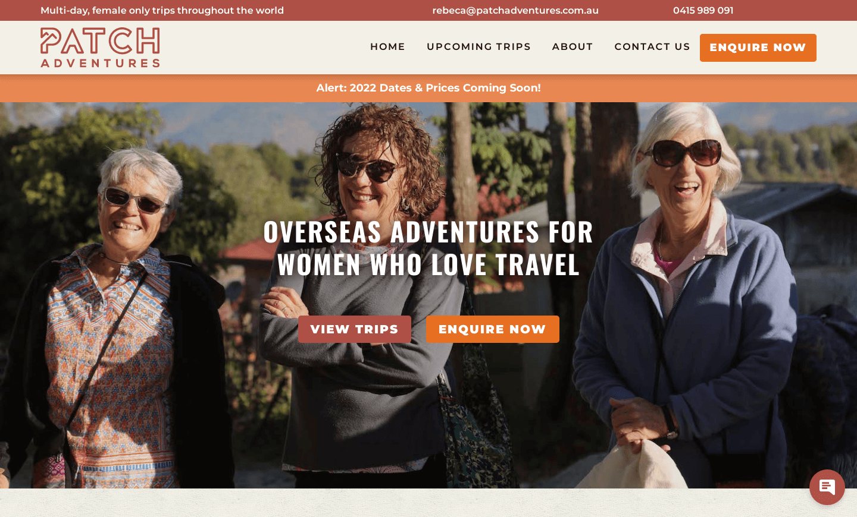 Patch Advetnure Homepage